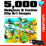 Focus 5,000 Religious and Festive Clip Art Images box