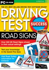 Driving Test Success Road Signs box
