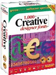 1,000 Creative Designer Fonts box