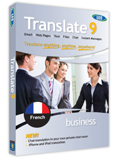 LEC Translate French Business Edition box